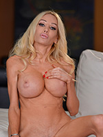 Endulge yourself of Kimber James in pretty pink undies playing with her hot pink t-girl pussy