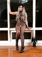 Bailey in Sexy Fishnets Teases You with Her Huge Dong