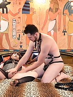 Kelly Receives a Massive Creampie After Bondage Fucking