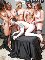 TS Stars - All Holes Filled With Hard TS Cock