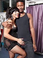 Black tranny gang banged!
