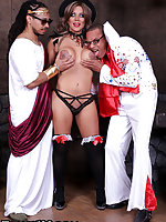 It's a spooky Halloween this year folks. Sexy ass Naomi Chi joins us to celebrate by taking two cocks at once. Ramon and Castro lay down some pipe on the horny Naomi. Let's get right to the action ladies and gentlemen.
