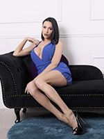 Hiding Behing Kimberlee's Lovely Blue Dress is a Super Hot Body and a Nice Thick Cock