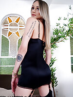 When it's the weekend and its time for some jerking fun you know you're in the right fucking place. Maria Clara Ludovice joins us for some solo fun. She's sexy and knows how to put on a show. Looking sexy in black and ready for action. Let's get right to