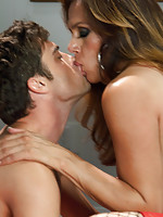 Sofia Sanders,Lance Hart - Cupid Draws Back Her Panties and Reveals a Thick, Hard Cock