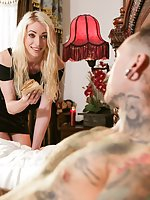 Stunning Aussie TS beauty Sasha De Sade can't help the way she feels about adorable, alt boy Ruckus. After denying her desires her lust just can't be contained, she needs to feel Ruckus hard body and juicy cock! Sasha seduces Ruckus, kissing him hard and