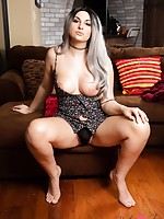 Bailey Chillin' on a Couch Masturbating the Shit out of Her Cock