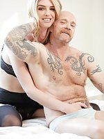 Willowy TS beauty Mandy Mitchell shows FTM sexy trans stud Buck Angel the softer side of sex when she makes out with him and eats his pussy. Buck loves it and begs Mandy to fuck him with her stiff cock. She obliges, and gets Buck off in several positions