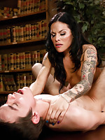 TS Foxxy,Matthew  - Coo Coo ca Choo Foxxy:Seducing a 19yr old in the Library with Her Cock