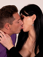 Bailee's tight tranny pussy gets busted by Andrea's huge pulsating cock